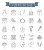 Wedding Line Icons Stock Photos