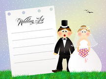Wedding list Stock Image