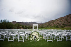 Wedding Location. Wedding ceremony location in the desert Royalty Free Stock Photo