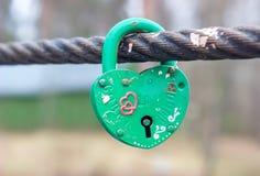 Wedding lock as heart Stock Photo