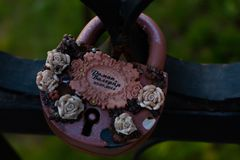The wedding lock royalty free stock photo