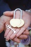 Wedding lock in hands Stock Image