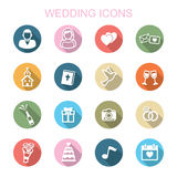 Wedding long shadow icons Stock Photos