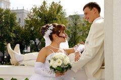 Wedding, los recienes casados Fotos de archivo libres de regalías
