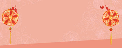 Wedding love bird Chinese banner Stock Photos