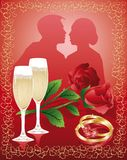 Wedding love card. vector Royalty Free Stock Photos