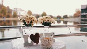 Wedding LOVE with flowers stock footage