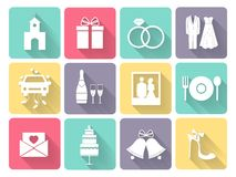 Wedding and love icons Royalty Free Stock Image