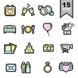 Wedding love Line icons set Stock Photography
