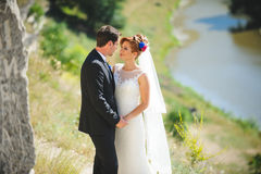 Wedding Love Story. At nature Royalty Free Stock Image