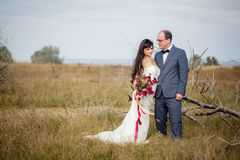Wedding and love story in nature Stock Images