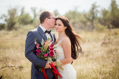 Wedding and love story in nature Royalty Free Stock Photography