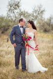 Wedding and love story in nature Royalty Free Stock Photo