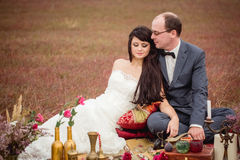 Wedding and love story in nature Stock Image