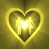 Wedding love symbol light flare Stock Images