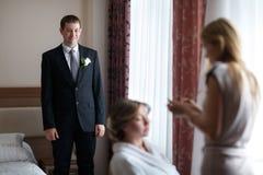 Wedding makeup closeup Stock Photos