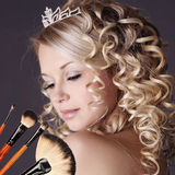 Wedding Makeup Portrait. Royalty Free Stock Image