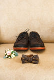 Wedding male accessories, clothing details Royalty Free Stock Photos