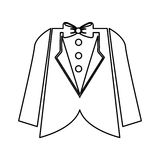 Wedding male suit icon. Illustration design Royalty Free Stock Photo