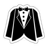 Wedding male suit icon. Illustration design Royalty Free Stock Image