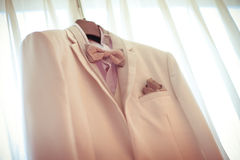 Wedding man suit Stock Image