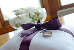 Wedding. A man and woman& x27;s wedding ring Royalty Free Stock Photo