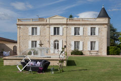 A wedding manor with a sofa outdoor Royalty Free Stock Image
