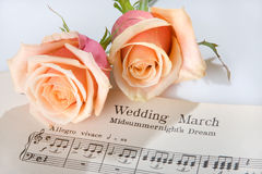 Wedding March. Sheet music of the Wedding March royalty free stock photography