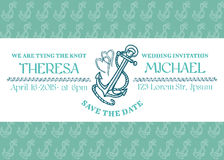 Wedding Marine Invitation Card Stock Images