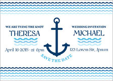 Wedding Marine Invitation Card Royalty Free Stock Image