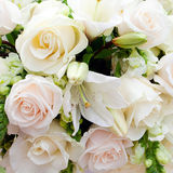 Wedding marquee with bouquets Royalty Free Stock Images