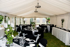 Wedding Marquee tent royalty free stock photography