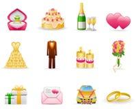 Wedding (Marriage). Wedding (Marriage,love) icon set royalty free illustration