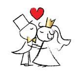 Wedding marriage greeting or invitation Stock Photo