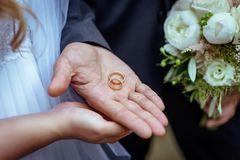 Hands of lovers man and woman stock photography