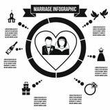 Wedding marriage infographic Stock Photos