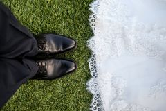 Wedding Marriage Shoes Man Royalty Free Stock Image