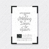 Wedding and married invitation card Royalty Free Stock Photography