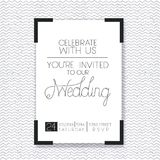 Wedding and married invitation card Stock Image