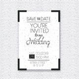 Wedding and married invitation card Stock Photo