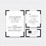 Wedding and married invitation set cards Royalty Free Stock Photography