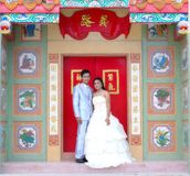 Wedding marry couples. Chinese temple Stock Images