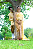 Wedding marry couples. In Thai dress Stock Images