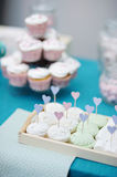 Wedding marshmallows Royalty Free Stock Image