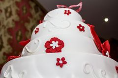 Wedding marzipan cake Stock Image