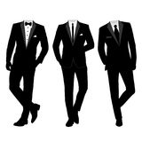 Wedding men`s suit and tuxedo. Vector illustration Royalty Free Stock Image
