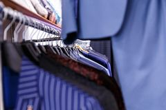 Wedding mens suits in wedding shop Royalty Free Stock Photo