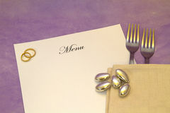 Wedding Menu Stock Photo