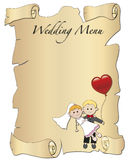 Wedding menu. Illustration for wedding menu with a spouses Royalty Free Stock Images