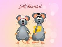 Wedding of mice Stock Photography